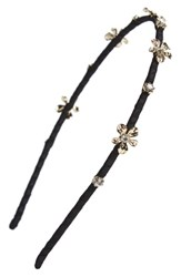 Cara Crystal Daisy Headband Black