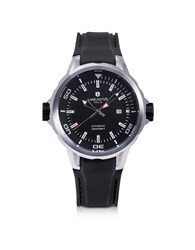 Lancaster Men's Watches Space Shuttle Automatic Stainless Steel And Black Silicon Men's Watch