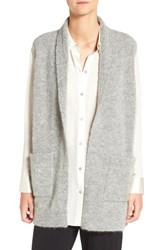 Eileen Fisher Women's Plush Melange Knit Shawl Collar Vest