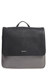Matt And Nat 'Pacific' Vegan Leather Backpack Grey Shadow