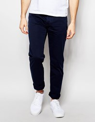 United Colors Of Benetton 5 Pocket Trousers In Slim Fit Blue