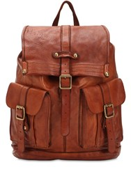 Campomaggi Studded Leather Backpack Brown