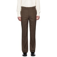 Christophe Lemaire Brown Wool Suit Trousers