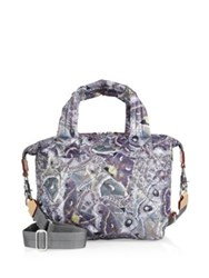 M Z Wallace Small Sutton Luna Oxford Quilted Nylon Duffle Bag Multi