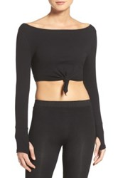 Free People New Wave Crop Top Black
