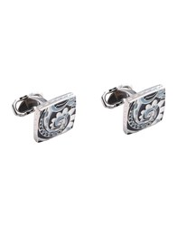 Thompson London Cufflinks And Tie Clips White