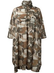Woolrich Camouflage Coat Women Polyamide One Size Brown