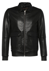 Nudie Jeans Tjalle Leather Jacket Black