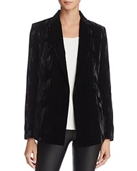 Dylan Gray Crushed Velvet Blazer Black