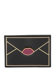 Lulu Guinness Lips Faux Patent Leather Card Holder