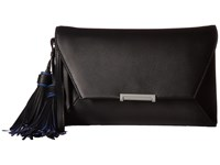 Ivanka Trump Mara Envelope Clutch Black Core Tassles Clutch Handbags