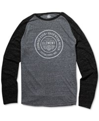 Element Men's Long Sleeve Graphic Print T Shirt Grey