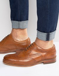 Hudson London Keating Leather Oxford Brogues Tan
