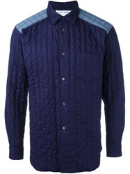 Comme Des Garcons Shirt Padded Shirt Blue