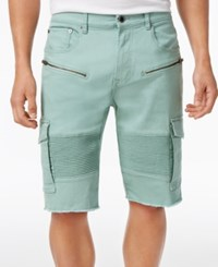 Lrg Men's Rally Cotton Cargo Shorts Granite Green
