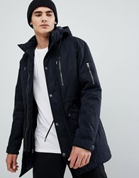 Only And Sons Padded Parka With Multi Pockets Black