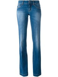 Dolce And Gabbana Flared Jeans Blue