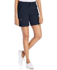 Style And Co. Sport Elastic Wasitband Roll Tab Shorts Industrial Blue