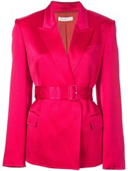 Adeam Single Breasted Belted Blazer Pink