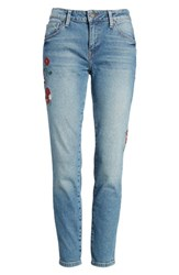 Mavi Jeans Women's Adriana Embroidered Ankle Skinny Mid Flower Embroidery