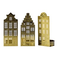 Pols Potten Waxinelight Tealight Holder Set Of 3 Canal Houses