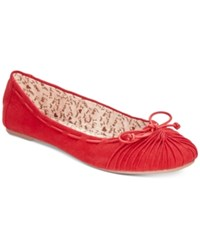 Mojo Moxy Dolce By Akachi Bow Flats Women's Shoes Red