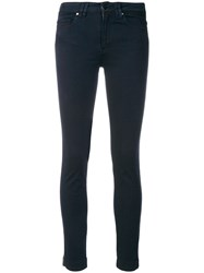 D.Exterior Cropped Trousers Blue