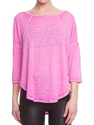 Betsey Johnson Heathered Jersey Pullover Pink
