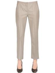 Max Mara Wool And Silk Canvas Pants