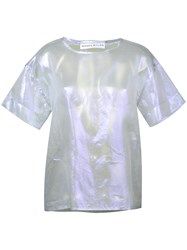 Wanda Nylon Sue Iridescent T Shirt Metallic