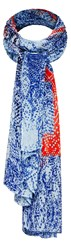 Sandwich Blue And Coral Printed Scarf