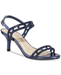 Caparros Happy Embellished Strappy Evening Sandals Women's Shoes Navy