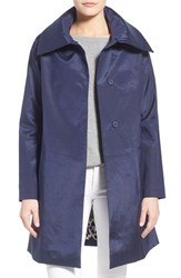 Women's Jane Post Envelope Collar A Line Raincoat Navy