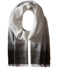 Calvin Klein Ombre Wool Scarf Charcoal Scarves Gray