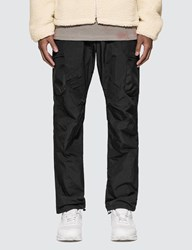 John Elliott High Shrunk Nylon Cargo Pants Black