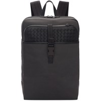 Bottega Veneta Grey And Black Medium Canvas High Teck Backpack