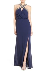 Women's Tfnc 'Cache' Embellished Maxi Gown