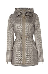 Carolina Cavour Hooded Quilted Marschmallow Jacket Green