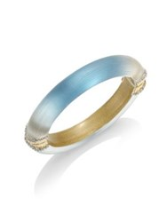 Alexis Bittar Lucite Ombre Hinged Bangle Blue