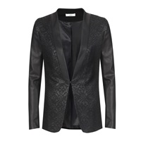 Aaiko Blazer With Fake Leather Details Black