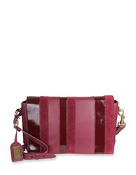 Badgley Mischka Natalie Calf Hair And Leather Crossbody Bag Wine