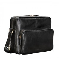 Maxwell Scott Bags Black Leather Bag For Men