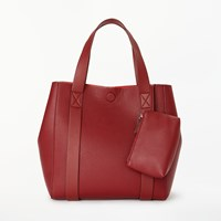 John Lewis Kin By Erika Small Tote Bag Burgundy