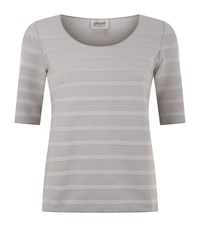 Armani Collezioni Textured Half Sleeve Jersey T Shirt Female Grey