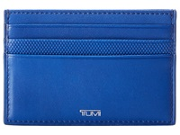Tumi Prism Card Leather Case Atlantic Credit Card Wallet Blue