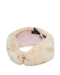 Ted Baker Mini Bow Faux Fur Headband Nude Pink