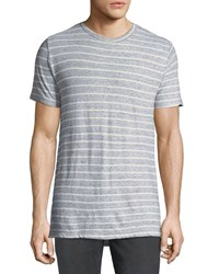 Sol Angeles Peppered Stripe Crewneck T Shirt Indigo