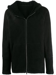 Salvatore Santoro Hooded Zip Up Jacket Black