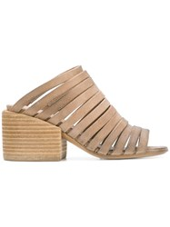 Marsell Strap Front Mules Nude And Neutrals