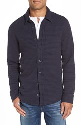 Relwen Men's Quilted Grid Work Shirt Navy